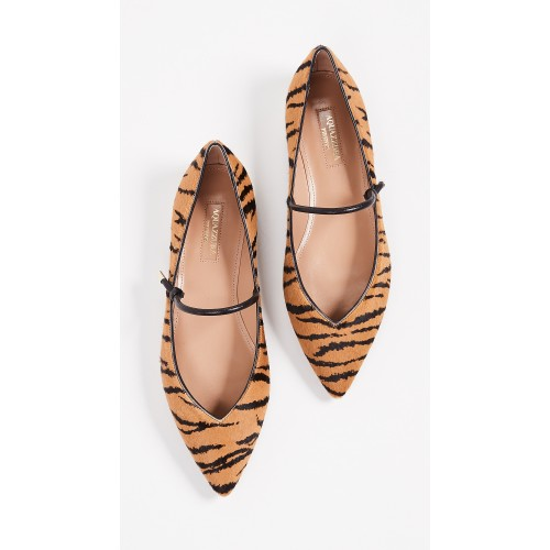 Aquazzura Stylist Ballet Flats Tiger/Black AQUDB30579 - Women's Flats Shoes NHUQHSL