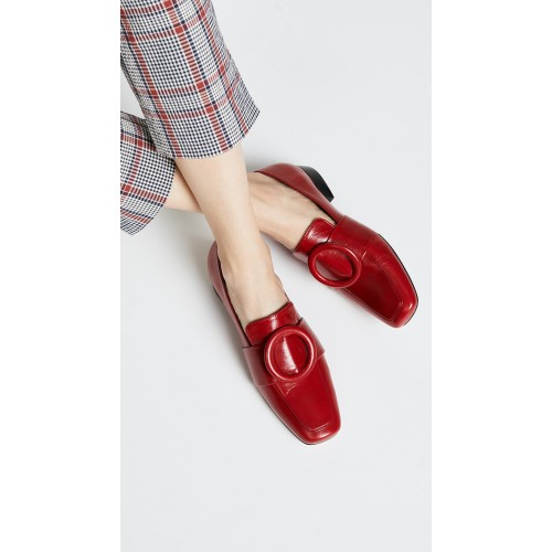 Dorateymur Harput Shadow Loafers Red/Red DORAT30063 - Women's Flats Shoes PVYFDTC