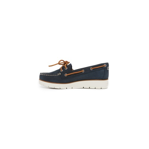 Sperry Azur Cora Boat Shoes Navy SPERR30320 - Women's Flats Shoes HVCNDNI