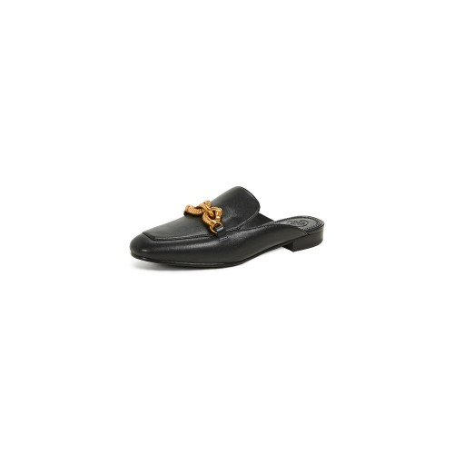 Tory Burch Jessa Backless Loafers Perfect Black TORYB46656 - Women's Flats Shoes JINYEPD