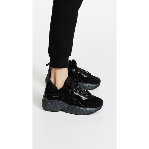 Acne Studios Manhattan Sneakers Multi/Black ACNDB31153 - Womens Sneakers LJDCKIR