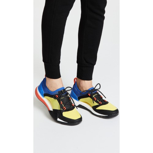 adidas by Stella McCartney PureBOOST X TR 3.0 Sneakers Yellow/Hi-Res Blue/Core Black ASTEL31054 - Womens Sneakers TTPDSSC