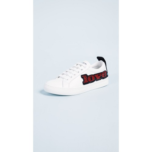 Marc Jacobs Love Embellished Empire Sneakers White Multi MJADB32254 - Womens Sneakers HPKPGKE