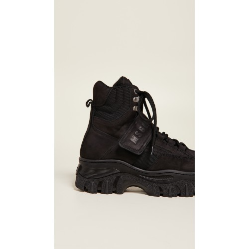 MSGM Chunky Strap Sneakers Black MSGMA31056 - Womens Sneakers MTYGTNE