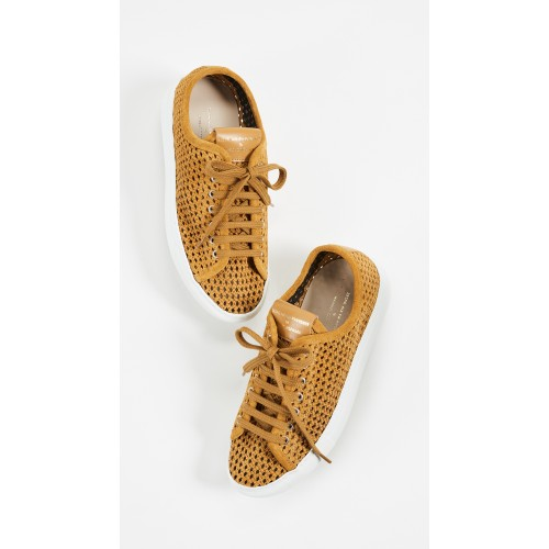 Zespa Perforated Lace Up Sneakers Tan/White ZESPA30078 - Womens Sneakers BKHHLSS